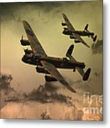 Lancaster Fire In The Sky Metal Print