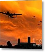 Lancaster Lincoln Sunset Metal Print