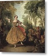Lancret, Nicolas 1690-1743. Mlle Metal Print