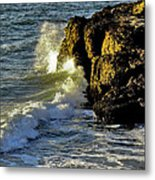 Land Versus The Sea Metal Print