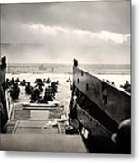 Landing At Normandy On D-day Metal Print