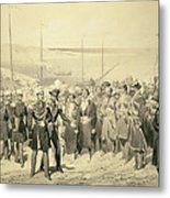 Landing Of A Military Leader Metal Print