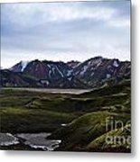 Landmannalaugar Iceland Metal Print