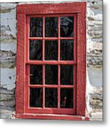 Landow Cabin Window Metal Print