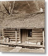 Landow Log Cabin 7d01723b Metal Print