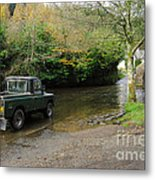 Landrover And The Ford  Metal Print