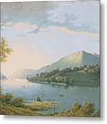 Landscape Along The Rhine Metal Print