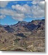 Landscape Amazing Canarian Colors Mountains Metal Print
