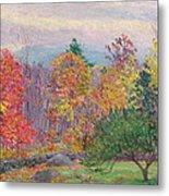 Landscape At Hancock In New Hampshire Metal Print