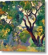Landscape At St Tropez  1 Metal Print by Pg Reproductions