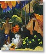 Landscape In Tahiti.mahana Maa Metal Print