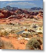 Landscape Of Valley Of Fire State Park Metal Print