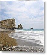 Seascape  Paphos Cyprus Metal Print