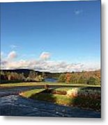 Landscape Skyview Early Morning Poconos Pa Usa America Travel Tour Vacation Peaceful Metal Print