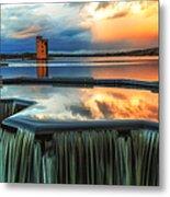 Landscape Strathclyde Park Weir  Metal Print