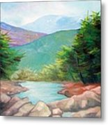 Landscape With A Creek Metal Print