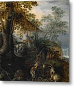 Landscape With Animals Metal Print