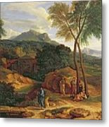 Landscape With Conopion Carrying Metal Print