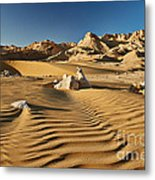 Landscape With Mountains In Egyptian Desert Metal Print