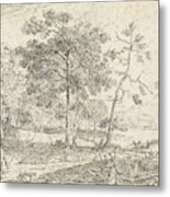 Landscape With Riders, Jan Palthe Metal Print