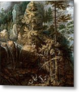 Landscape With The Temptation Of Saint Anthony Metal Print