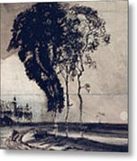 Landscape With Three Trees Metal Print