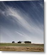 Landscape With White Country Church Metal Print