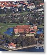 Landskrona Citadel Photographed From The Air Metal Print