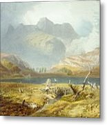 Langdale Pikes, From The English Lake Metal Print