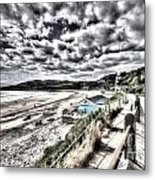Langland Bay Painterly Metal Print