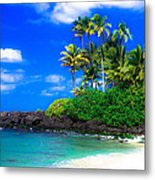 Laniakea Beach Oahu Metal Print by Lisa Cortez