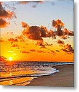 Lanikai Beach Orange Sunrise 3 To 1 Aspect Ratio Metal Print