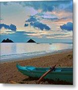 Lanikai Beach Sunrise 6 - Kailua Oahu Hawaii Metal Print