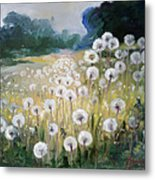 Lanscape With Blow-balls Metal Print
