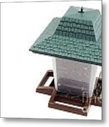 Lantern Bird Feeder Metal Print