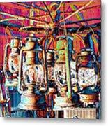 Lantern Chandelier 02 Metal Print