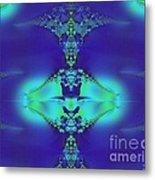 Lantern Of Sapphire Metal Print
