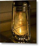 Lantern On Granite Metal Print