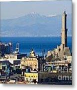 Lanterna - Lighthouse In Genova Metal Print