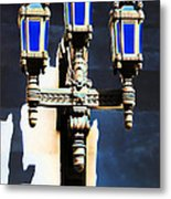 Lanterns Out Of The Blue Metal Print