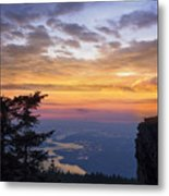 Larch Mountain Sunset Metal Print