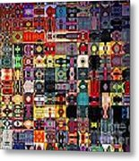 Larg Blocks Digital - Various Colors I Metal Print