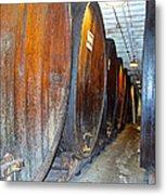 Large Barrels At Korbel Winery In Russian River Valley-ca Metal Print