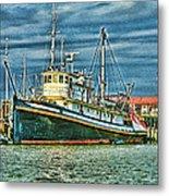Large Fishing Boat Hdr Metal Print