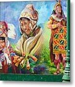 Large Mural In Cusco Peru Part 4 Metal Print