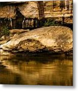 Large Rock In Cumberland River Metal Print