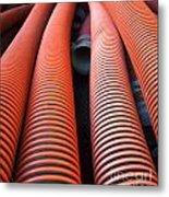 Large Sewage Pipes Metal Print