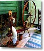Large Spinning Wheel Metal Print