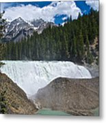 Larger View Of Wapta Falls In Yoho Np-bc Metal Print