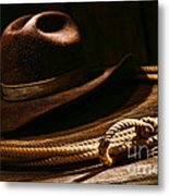 Lariat And Hat Metal Print